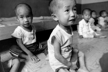Malnourished children in an orphanage.