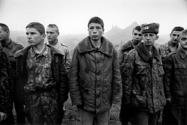 Young men conscripted to the Russian army for the war in Chechnya.