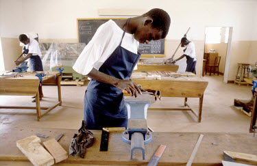 Woodwork training for boys in an SOS Children's Village.