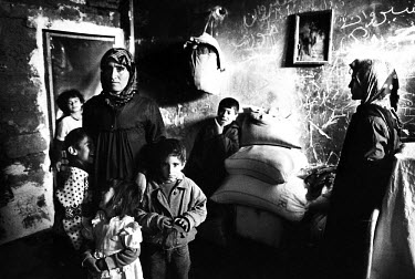 Displaced Kurdish people from Kirkuk living in very poor conditions after being driven from their homes by the Iraqi army. They now live in the torture chambers of the former Iraqi Muhabarat building,...