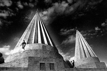 The tomb of Sheikh Adi, founder of the Yazidi (Yezidi) religion, a pre-Islamic sect.