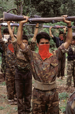 Maoist guerilla fighters in training.