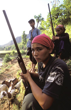 Maoist guerilla fighters.