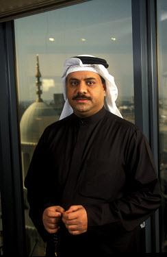 Atif Abdulmalik, the CEO of the First Islamic Investment Bank in Bahrain. His office is situated at the top of the Batelco building, which houses many local and international banks.