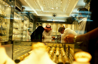 A jewellery shop in central Manama. Gold is very popular amongst the wealthy citizens of Bahrain.