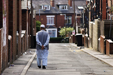 A British Muslim man in the Beeston Hill area.