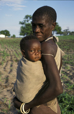 Baby with grandmother.  The region has suffered severe drought and food shortages over the past two years.