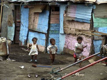 Children living on a rubbish dump on the outskirts of the capital.