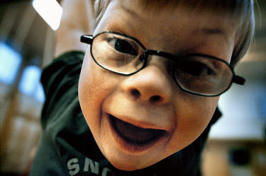 Six year old Jesper has Down Syndrome and although he is unable to talk, communicates through sign language.