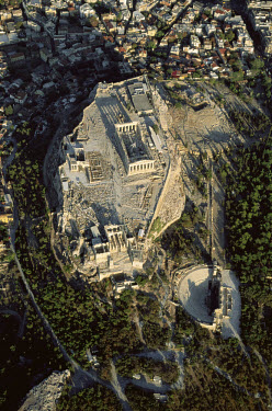 The Acropolis, the topographical and religious centre of ancient Athens. The first great temple to the goddess Athena was built on the rocky plateau in the 6th century BC. The site, which contains man...