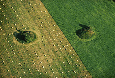 Barrows in a field, dating from the Bronze Age. The mounds are made from pastural material and were constructed as memorials, marking Broze Age burial sites. (129)
