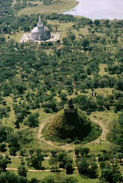 The Buddhist centre at Anuradhapura, also known as the 'City of Anuradha'. The city was founded in the 5th century BC and became the capital of the Sinhalese empire in 377 BC. The site, which was an i...
