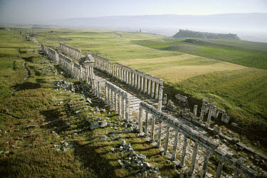 The Colonnaded Street among the architectural remains at the town of Apamea (Apameia), which was formerly the capital of the Eastern Roman province Syria Secunda in the 5th century AD. (44)