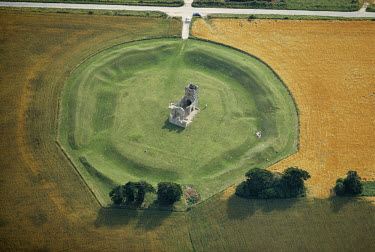 The Church Henge, an Neolithic earthwork henge dating from the 11th century AD, in an area known as the Knowlton Circles. The function of such a 'hanging stone' is not fully understood, yet it may hav...