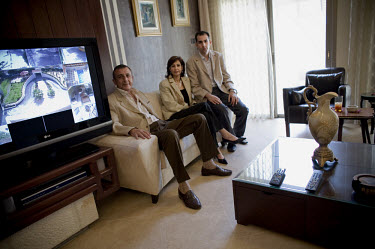 Salah Al-Masri sits with his wife Assma and son Hikmat. Salah Al-Masri is the outspoken head of a wealthy and highly regarded family who believes the police could, if they wanted, remove gangsterism f...