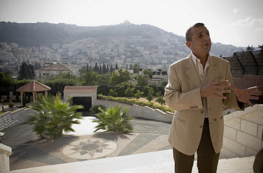 Salah Al-Masri in front of his house in Nablus. Salah Al-Masri is the outspoken head of a wealthy and highly regarded family who believes the police could, if they wanted, remove gangsterism from the...
