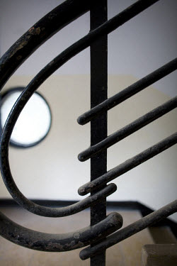 Detail of a typical Bauhaus banister. 2009 is the city's centenary, and the Bauhaus inspired architecture of the city will be one of the focus points of the celebrations. In 2003 the Bauhaus neighbour...