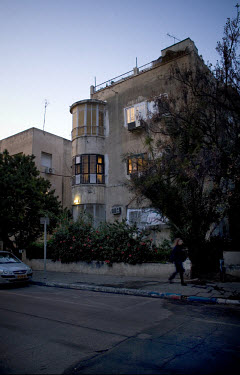 Neglected Bauhaus building near Dizengoff Circus. 2009 is the city's centenary, and the Bauhaus inspired architecture of the city will be one of the focus points of the celebrations. In 2003 the Bauha...