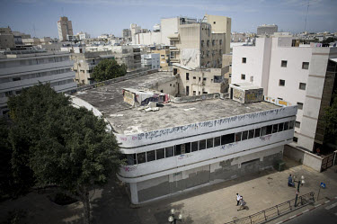 Neglected Bauhaus building on Dizengoff Circus. 2009 is the city's centenary, and the Bauhaus inspired architecture of the city will be one of the focus points of the celebrations. In 2003 the Bauhaus...
