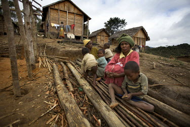Alanale villagers displaced by the construction of a 200km long pipeline leading from the Ambatovy Mine, owned by mining giant Sherrit in central eastern Madagascar. Sherritt is constructing the world...
