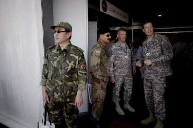 Military representatives from countries around the world, including China, were present during the opening of the King Abdullah II Special Operations Training Center (KASOTC) near Amman. Jordan and th...
