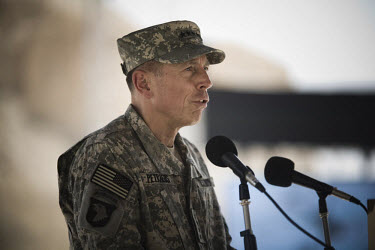 US Army General David Petraeus speaking at the opening ceremony of the King Abdullah II Special Operations Training Center (KASOTC) near Amman. Jordan and the United States have committed over USD200...