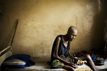 45 year old Abdul Salam, who has Tuberculosis, eats in a Kano hospital. Nigeria has the most people living with Tuberculosis (TB) of any country in Africa, with 460,000 new cases, and 140,000 deaths,...