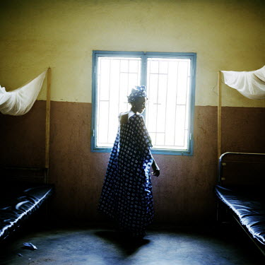 A woman at an HIV/AIDS clinic outside Bamako.