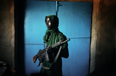 A young rebel from the Sudan Liberation Army (SLA) in Muhadjeria, south Darfur.
