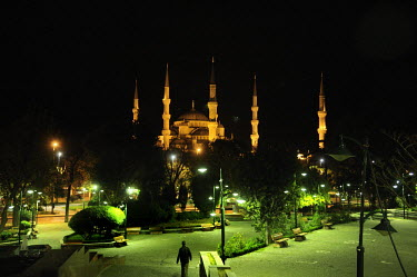 The Blue Mosque (Mosque of Sultan Ahmet).