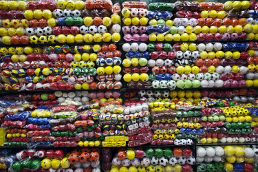 Plastic balls for sale displayed in the Yiwu Small Commodity Market. The city of Yiwu comprises of numerous export markets selling more than 17 million different products to more than 200 countries wo...