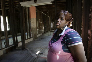 23 year old Terri stands in a derelict building. She was made homeless when Hurricane Katrina hit New Orleans, Louisiana in August 2005. Years later the city is still struggling to recover. The most e...