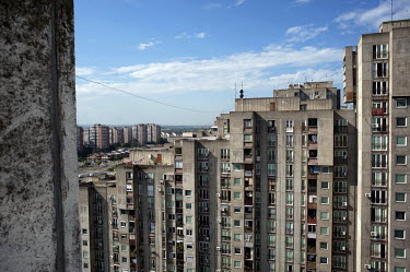 A residential tower block containing 118 Juri Gagarina Street where, Jovan Djogo, former Bosnian Serb general Ratko Mladic's bodyguard, in a court testimony, said that Mladic rented an apartment betwe...
