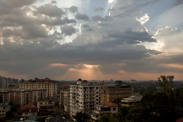 A view of the Yangon skyline.