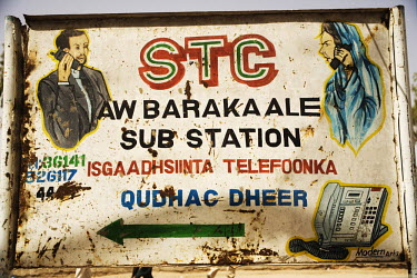 A billboard advertising a telephone service in Hargeisa.