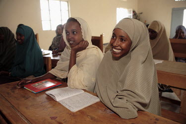 Young women studying at the Havoyoco/ARV Centre for displaced Somali youth.