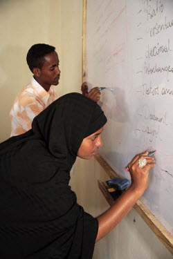 Young people studying at the Havoyoco/ARV Centre for displaced Somali youth.