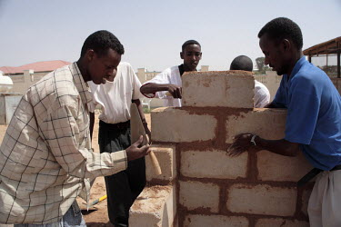 Young men studying building at the Havoyoco/ARV Centre for displaced Somali youth.