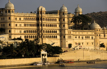 The City Palace Compound overlooking Lake Pichola.