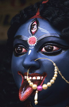 A statue of the Goddess Kali.