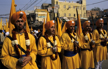 Sikh's celebrating Nanak, the first of the ten Sikh Gurus.