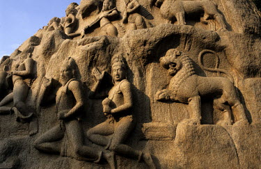 Arjuna's Penance also known as the Descent of the Ganges, a 7th Century CE carved bas-relief.