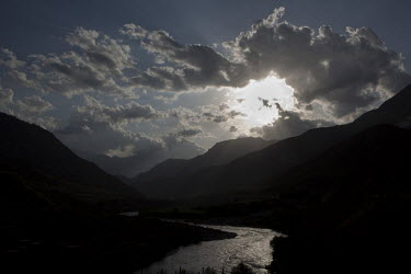 A view of the Kunar River Valley seen from Combat Outpost Pirtle-King.