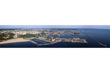A panoramic view over the town of Gdynia, on the shore of the Baltic Sea.