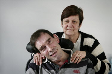 Jane Nicklinson looks after her husband Tony in Melksham, Wiltshire. Tony Nicklinson suffered from locked-in syndrome and died on 22 August 2012 after refusing food. The week before his death he lost...