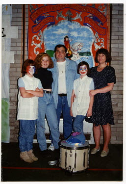Tommy with his family during a visiting day at the Maze prison in the mid 1990s. Tommy is a former member of the Ulster Defence Association (UDA). He served time in the Maze Prison, a complex which wa...