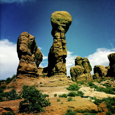 A rock formation in Arches National Park.