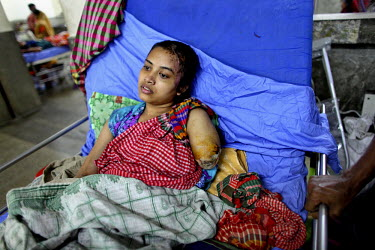 18 year old Shapla was on the third floor of the Rana Plaza complex when it collapsed. She lost the lower part of her left arm and has a number of other injuries. She had been working in a textile fac...