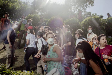 Protesters facing off with police at Gezi Park in Istanbul, the site of a proposed shopping complex and mosque which is being opposed by environmental protesters. Protests against the government of Re...