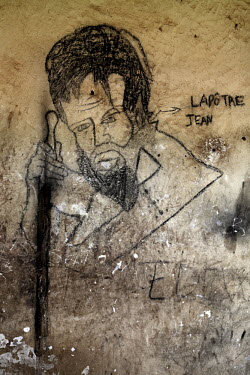 Graffiti on the walls of Bangui's notorious N'Garagba Prison. All prisoners, both common criminals and political opponents of ousted President Francois Bozize, were released by the Seleka rebels when...